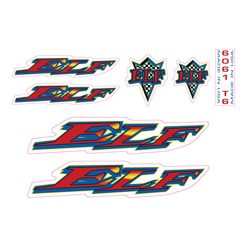 Elf BMX decals 1997 Elf Traction Plate BMX decal set