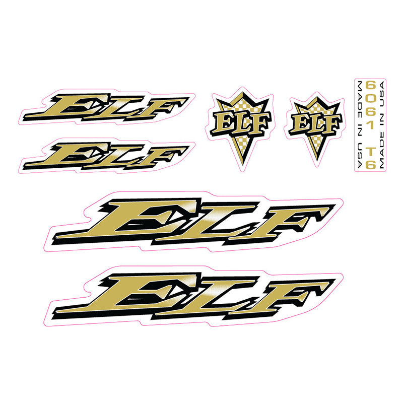 Elf BMX decals 1997 Elf Traction Plate BMX decal set gold