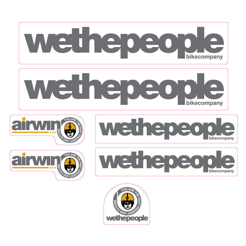 2003 We The People Airwin BMX decal set