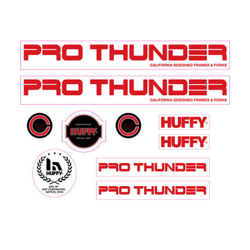 1981 Huffy Pro Thunder decal set for BMX
