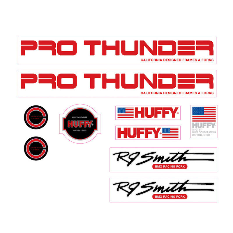 1982 Huffy Pro Thunder decal set for BMX