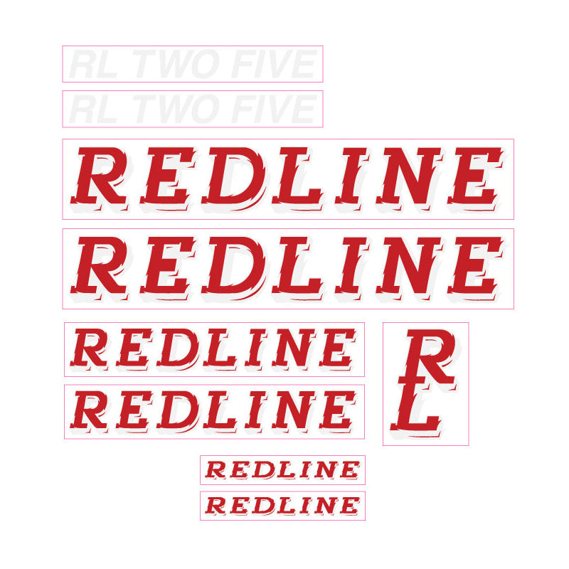 1990 Redline RL TWO FIVE BMX decal set