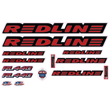 1999 Redline RL440 BMX decal set