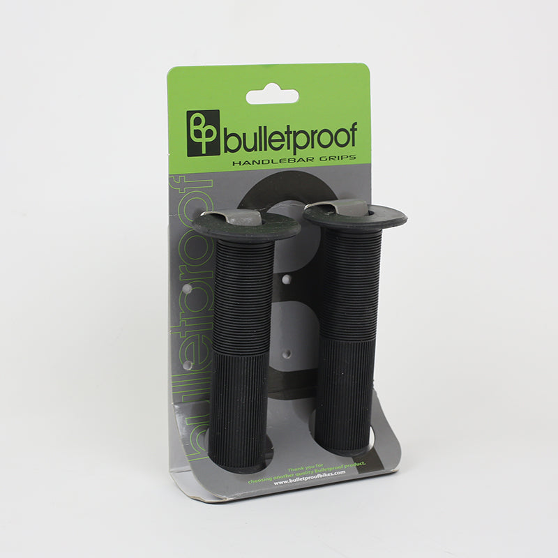 Bulletproof - black - flanged BMX grips 1