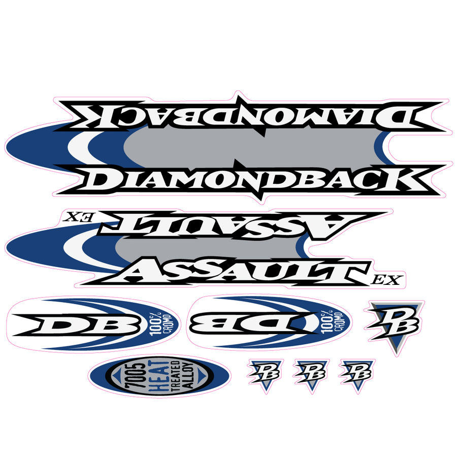 1998 Diamond Back Assault EX BMX decal set