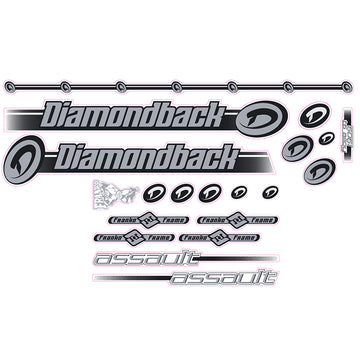 2000 Diamond Back Assault BMX decal set