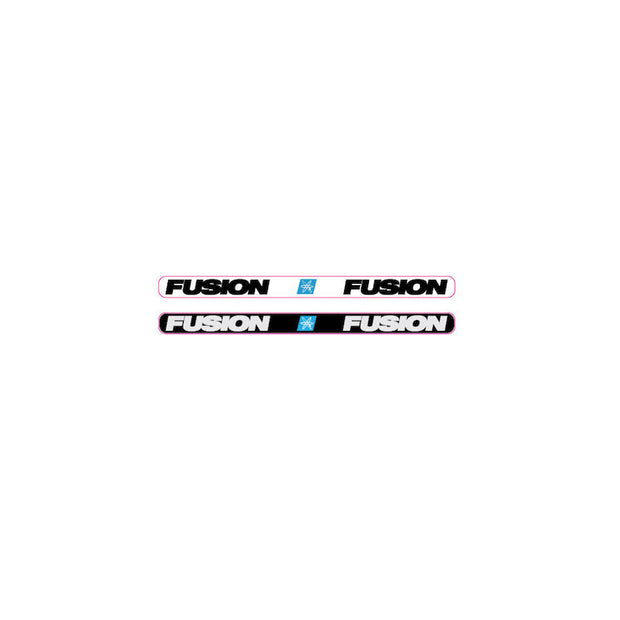 Haro Fusion 'block font' BMX seat post clamp decal set