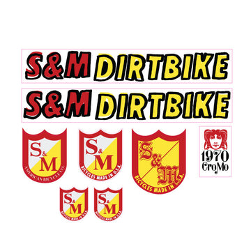 S&M Dirt Bike Handwritten Font BMX decal set