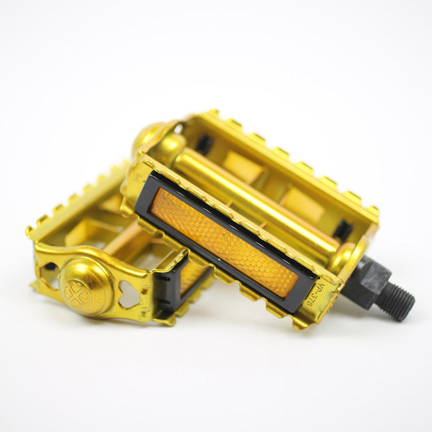 Rat trap pedals - candy gold - old school vintage 1