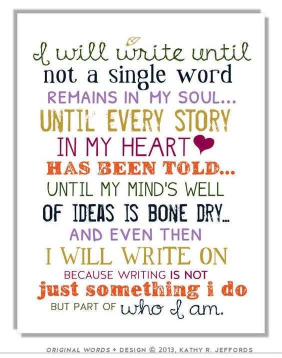 I Will Write Motivational Unframed Wall Art