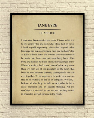 Charlotte Bronte's Jane Eyre Unframed Wall Art