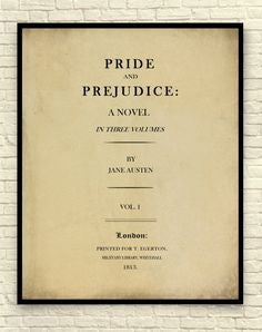 Jane Austen's Sense And Sensibility Page Wall Art