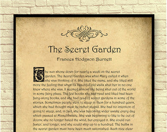 Frances Hodges Burnett's The Secret Garden Unframed Wall Art
