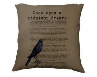 Edgar Allen Poe's Once Upon A Midnight Dreary Pillow