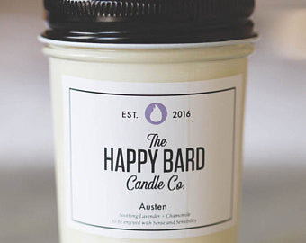 Jane Austen Inspired Candle of Lavender & Chamomille