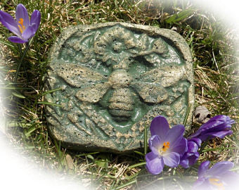 Shabby Chic Bee Garden Stepping Stone