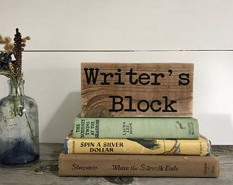 Writer's Block Home Accent