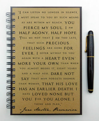 Jane Austen's Persuasion Quote Journal