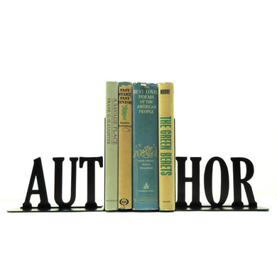 Industrial Home Decor Author Silhouette Style Bookends