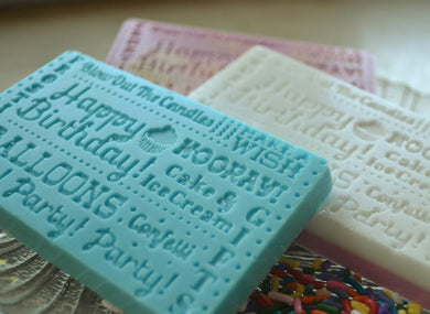 Birthday Cake Scented Bar Soap - Set Of Two