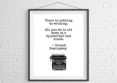 Ernest Hemingway Quote Unframed Wall Art
