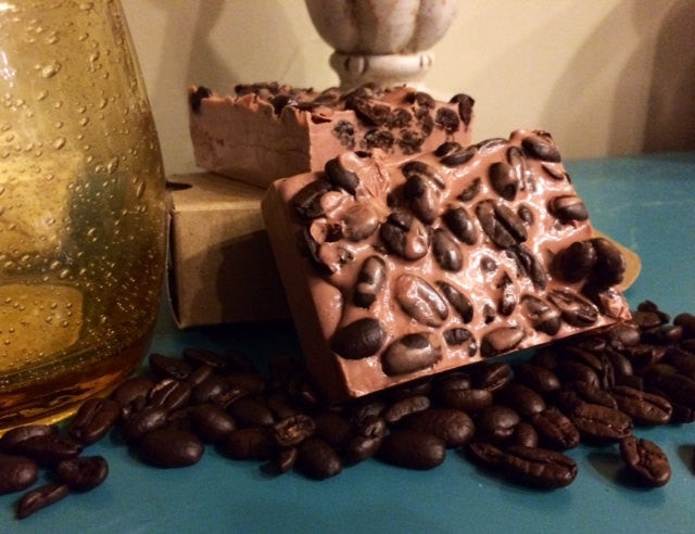 Coffee Scented Bar Soap With Whole Coffee Beans