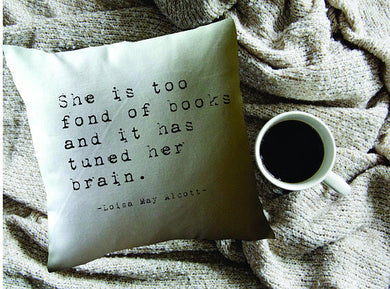 Louisa Alcott Quote Pillow