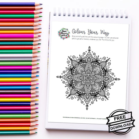 Closet Planner Addict Free Printable Mandala Colouring Sheets