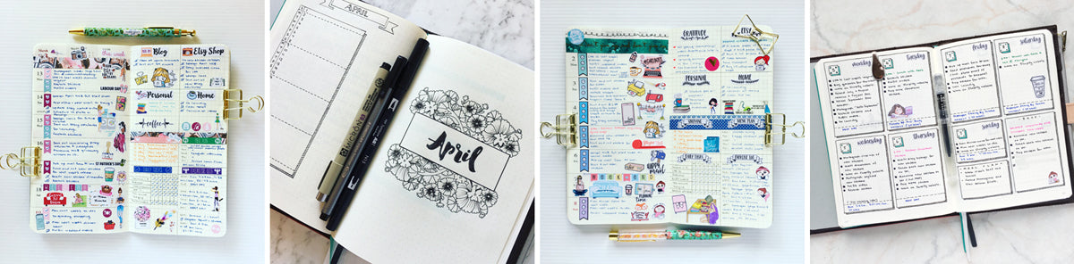Examples of my planner spreads