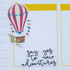 Vintage Hot Air Balloon Travel Planner Stickers (S-173)