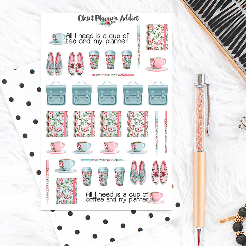 Smell The Planner Roses Planner Stickers (S-248)