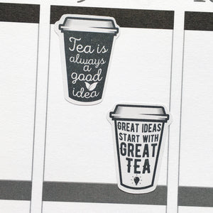 Tea Quotes Planner Stickers (S-341)