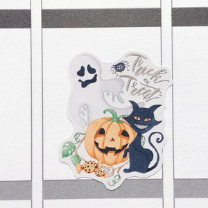 Watercolour Halloween Planner Stickers (S-348)