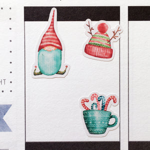Watercolour Christmas Planner Stickers (S-352)