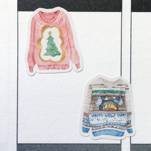 Ugly Christmas Sweaters Planner Stickers (S-355)