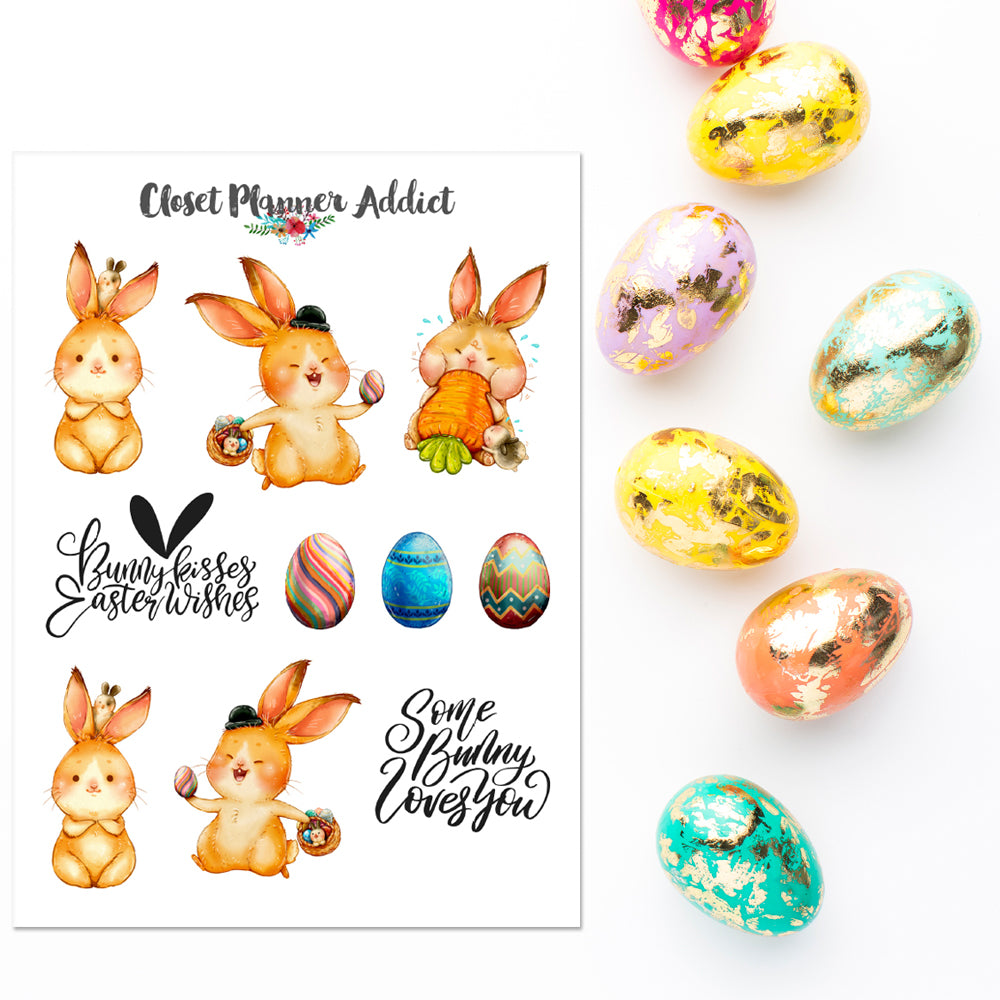 Happy Easter Planner Stickers (S-388)