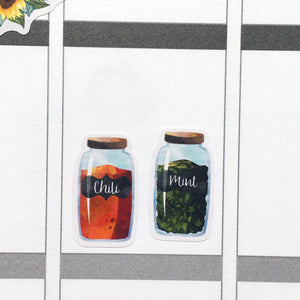 Spice and Herb Jars Planner Stickers (S-395)