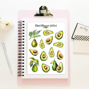 Avocado Planner Stickers (S-396)