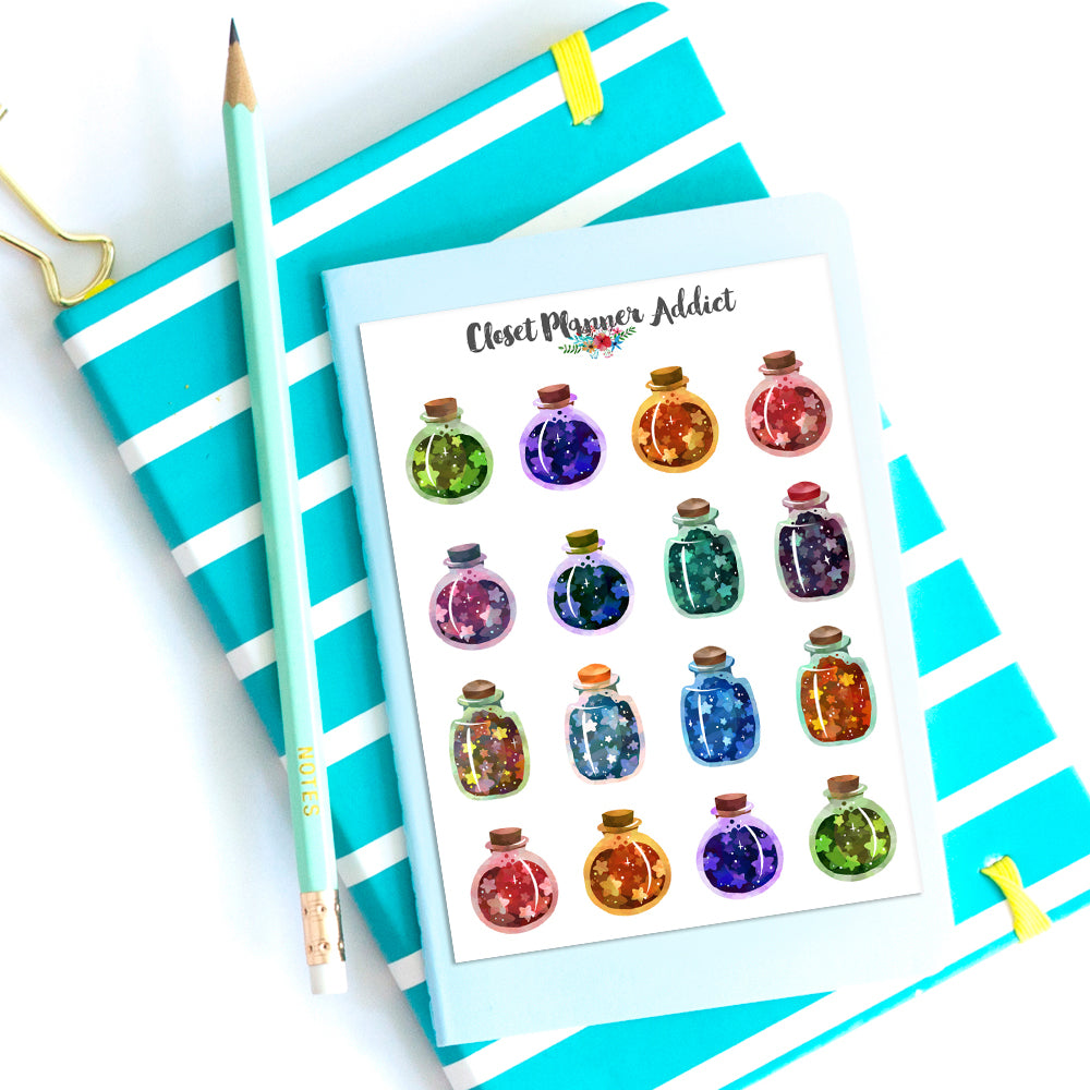 Bottled Stars Planner Stickers (S-397)