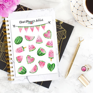 Watermelon Planner Stickers (S-398)