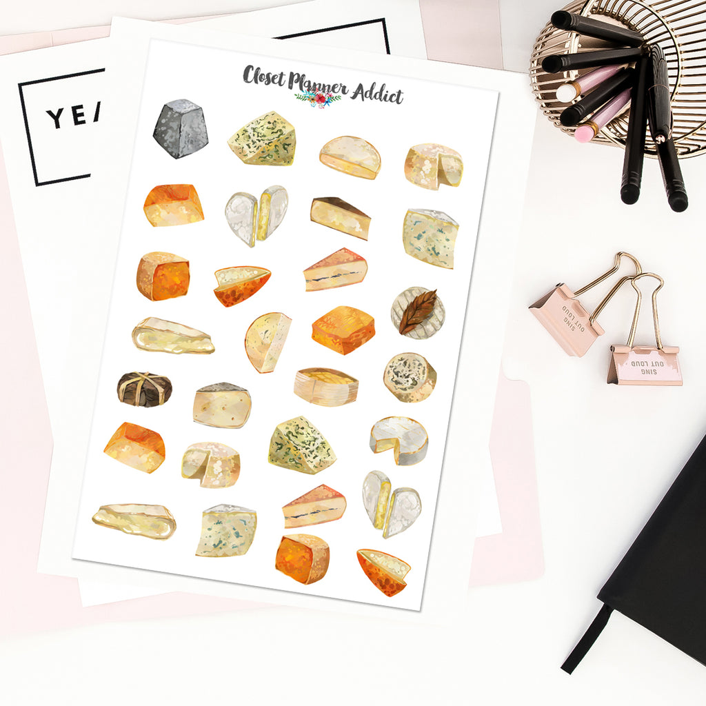Cheese Planner Stickers (S-400)