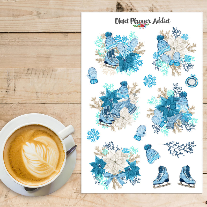 Hello Winter Planner Stickers (S-401)