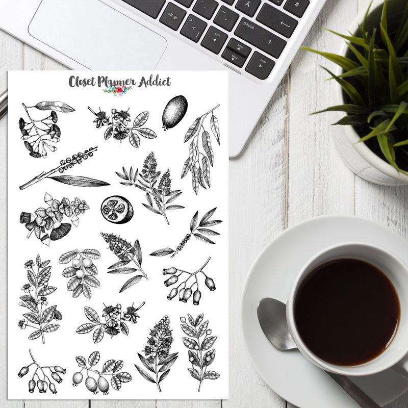 Myrtle Plants Planner Stickers (S-403)
