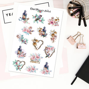 Winter Magic Planner Stickers (S-407)