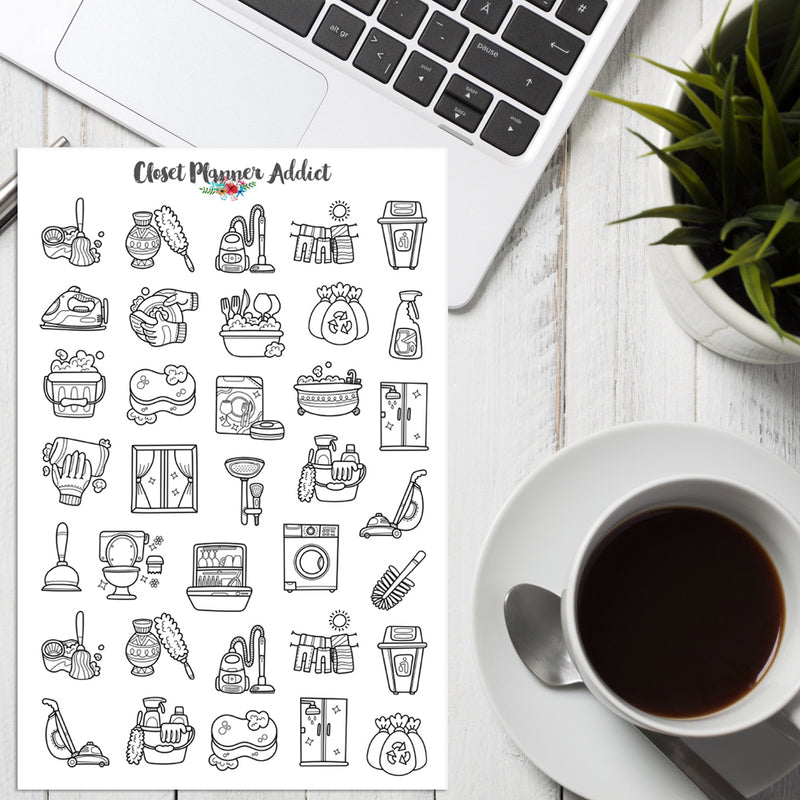 Housework Planner Stickers (S-408)