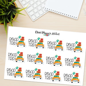 Road Trip Planner Stickers (S-410)