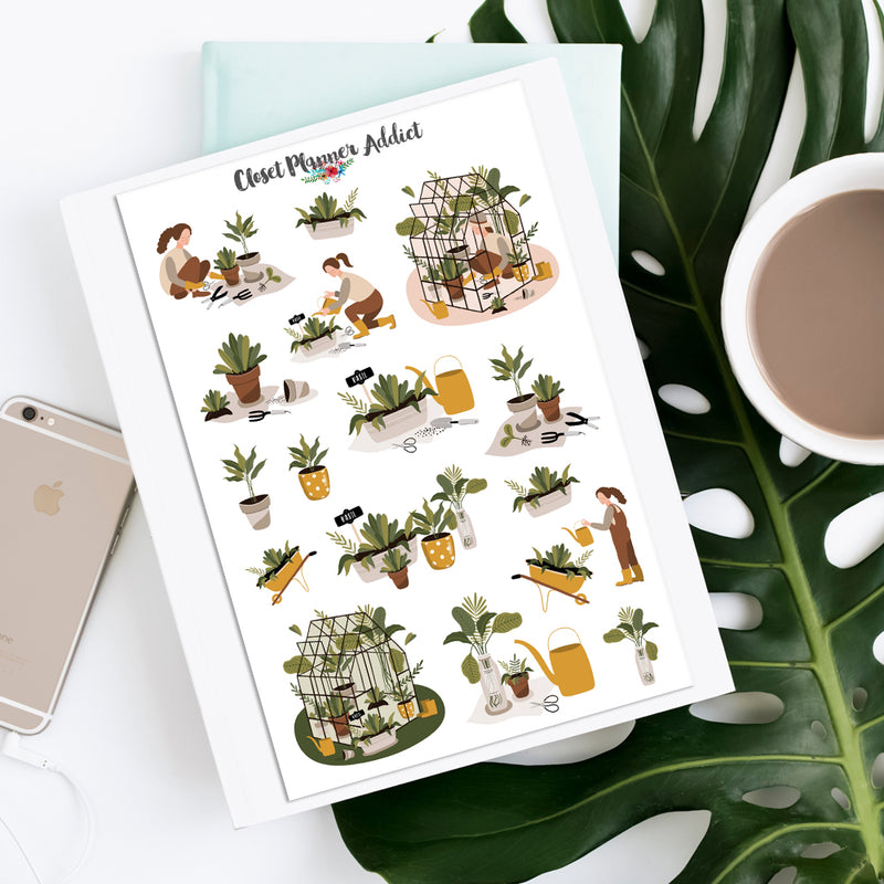 I Love Gardening Planner Stickers (S-411)