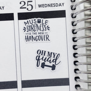 Fitness Quotes Planner Stickers (S-415)