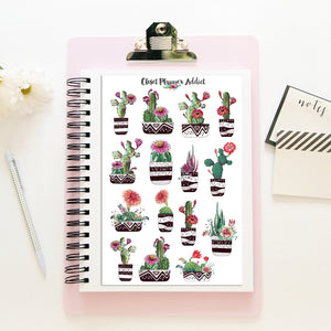 Cactus and Succulent Planner Stickers (S-417)