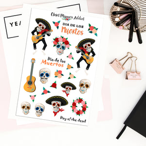Dia De Los Muertos Planner Stickers | Day of the Dead Stickers (S-420)